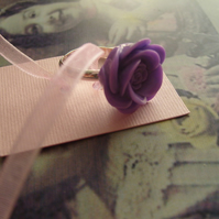 Lilac Rose Cabochon Ring