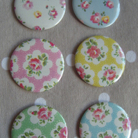 4 magnets, any Cath Kidston or spot designs, vintage floral