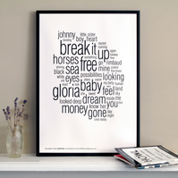 Patti Smith - Horses Distilled. Limited Edition Letterpress A3 Art Print