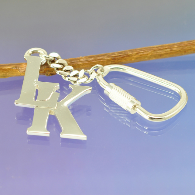 Custom Initial Key Ring.