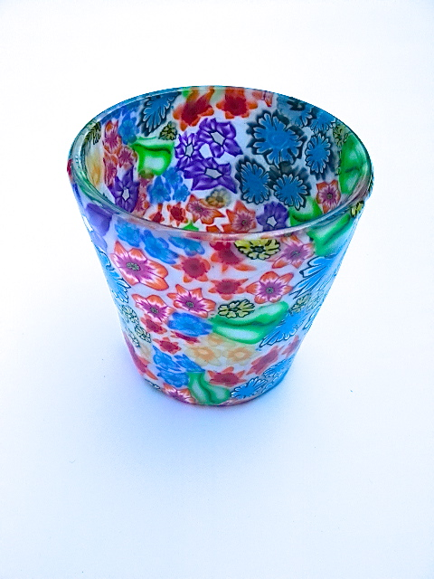 Millefiori Polymer Clay Tea Light Holder Folksy