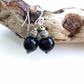 Black polymer clay earrings