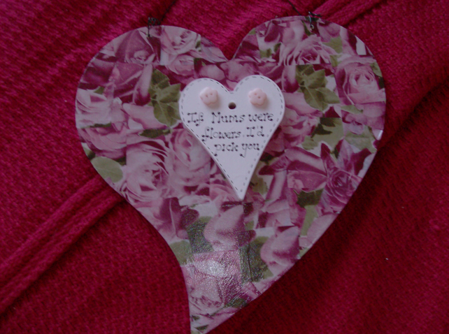 Decopatched Mum Heart