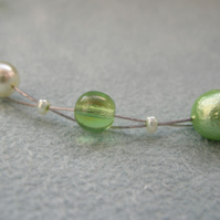 Green Bead Necklace
