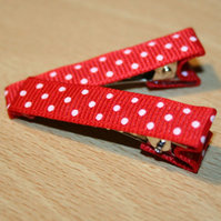 Red Spotty Hairclips