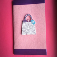 PIF Pink Handbag Notebook A6