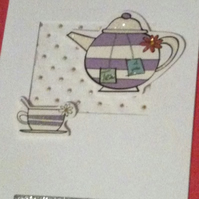 PIF with love tea pot card