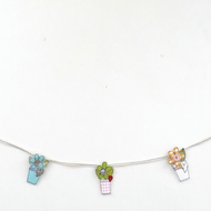 Flower Pot Bunting - Pinks and Greens