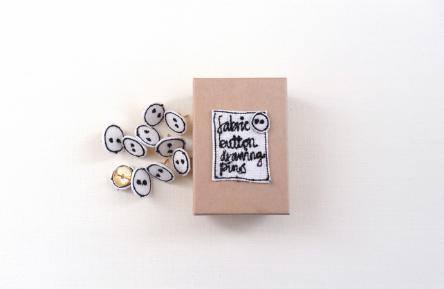Linen Fabric Button Drawing Pins
