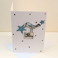 Happy Birthday C6 Blank Card