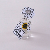 'Bee Happy' Daisy in a Bottle