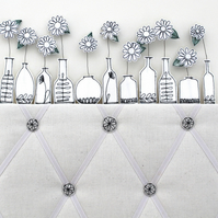 Memo Board with Bottles of Blooms