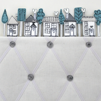 Memo Board with Houses and Trees