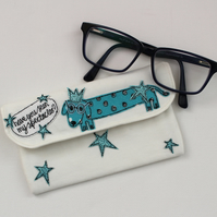 Glasses Case with Mr Sausage Dog
