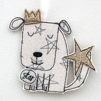 'Star Doggy' - Hanging Decoration