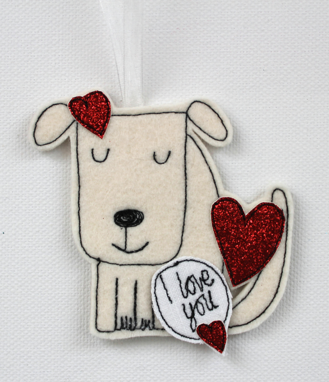I love you Doggy - Hanging Decoration