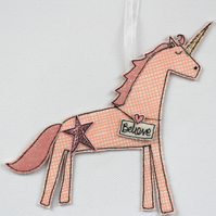 'Believe' The Peach Unicorn