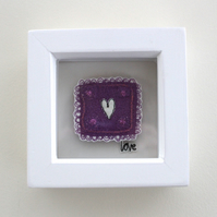 'Love' - Framed Textile
