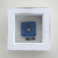 'Little star' - Framed Textile