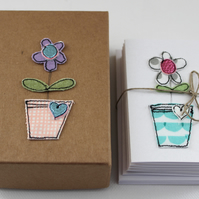 'Flowerpot' - A Box of Six Cards with Envelopes