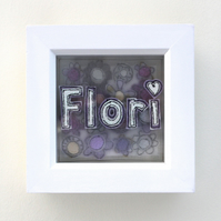 Personalised Flower Picture