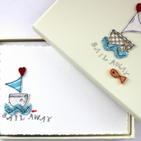 'Sail Away' - A Box of Six Postcards with Envelopes
