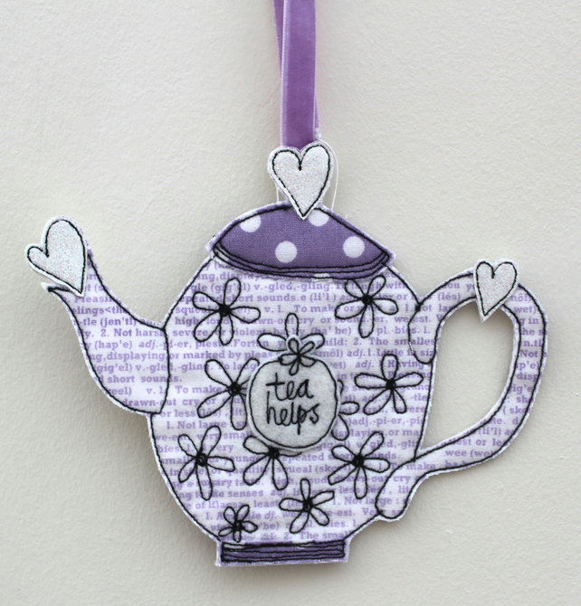 'Tea Helps' - Hanging Decoration