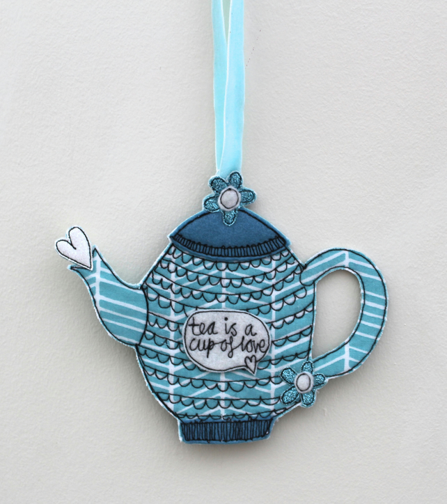 'Tea is a Cup of Love' - Hanging Decoration