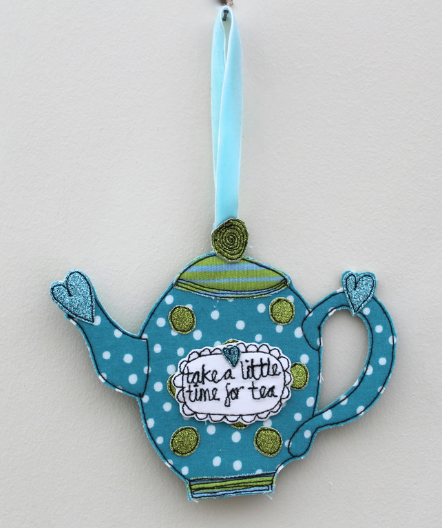 'Take a Little Time for Tea' - Hanging Decoration
