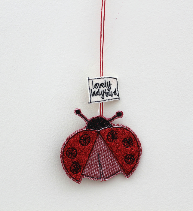 'Lovely Ladybird' - Hanging Decoration