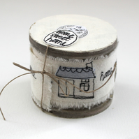 'Home Sweet Home' - 3m Handmade Cotton Ribbon