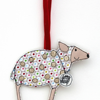'Dotty Sheep' - Hanging Decoration