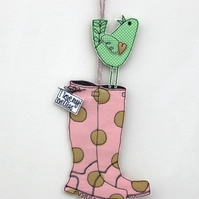 'I love my wellies' - Hanging Decoration