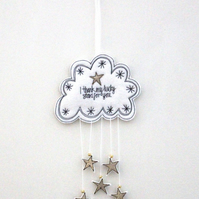 'I thank my lucky stars for you' - Hanging Decoration