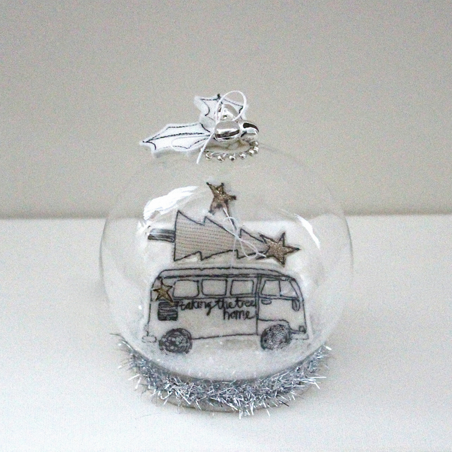 'Taking the Tree Home' - Fish Bowl Shape, Glass Dome Decoration