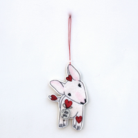 'English Bull Terrier Puppy' - Hanging Decoration