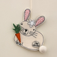 'Mr Rabbit loves Carrots' - Hanging Decoration