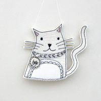 'Kitty Cat' - Hanging Decoration