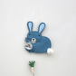 'Mr Blue Rabbit loves Carrots' - Hanging Decoration