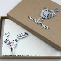 'Little Birdie' - A Box of Six Postcards with Envelopes