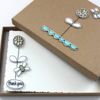 'Bloom and Bee' - A Box of Six Postcards with Envelopes