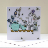 Special Order for S.Sedman - Happy Birthday Square Card