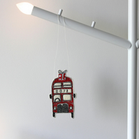 Little Red Bus '2018' - Hanging Decoration
