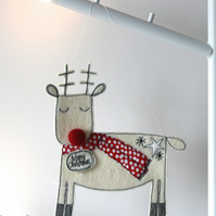 Dreaming Reindeer - Hanging Decoration