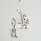 'Love Sewing' Sewing Machine' - Hanging Decoration