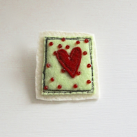 'Red Heart' Brooch