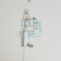'Sewing Mends the Soul' Sewing Machine' - Hanging Decoration
