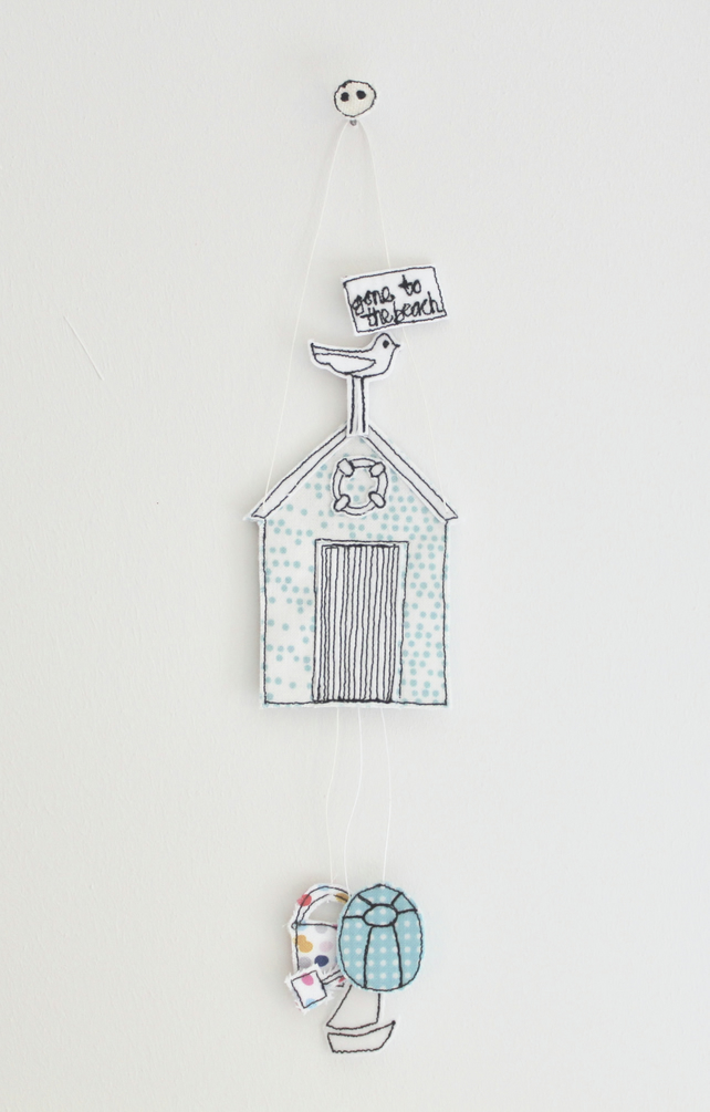 'Gone to the Beach' - Beach Hut Hanging Decoration