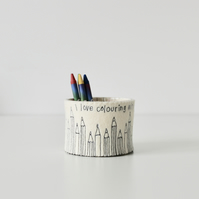 Storage Pot -'I Love Colouring with Daddy'