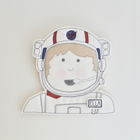 'One Small Step' - Astronaut Wall or Door Plaque  - Personalisable